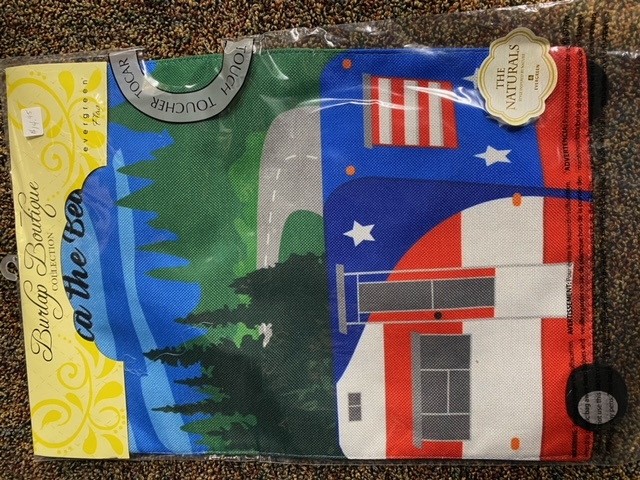 Patriotic Camper - decorative garden flag