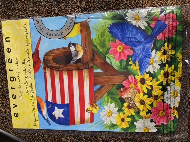 Patriotic mailbox/birdhouse - decorative garden flag