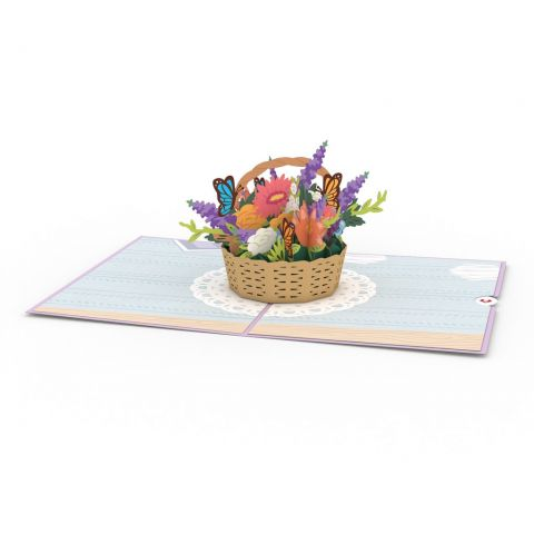 Flower Basket lovepop Pop Up Greeting Card
