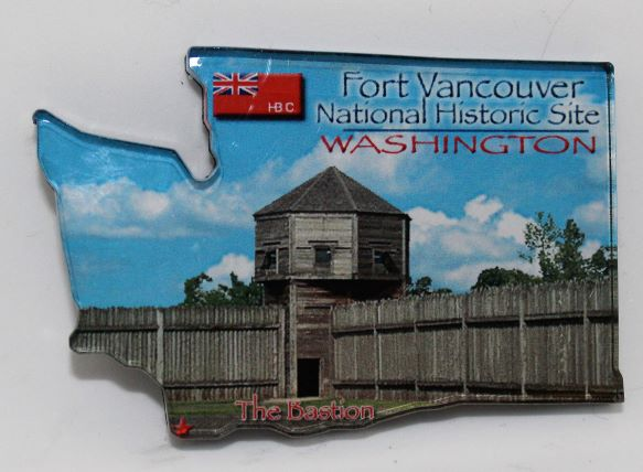 Fort Vancouver Magnet shaped like Washington State