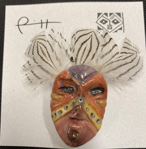 Lillian Pitt - Miniature Mask Pin