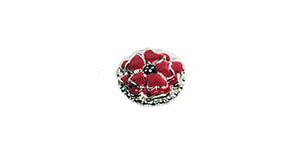 Remembrance Poppy Flower Pin by Boston Exclusives
