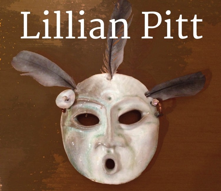 Lillian Pitt Invitation | Ceramic mask with feathers and beads