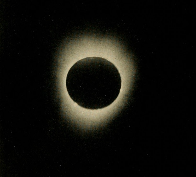 Image of the June 27, 1862 solar eclipse from the Smithsonian Miscellaneous Collection 1862.