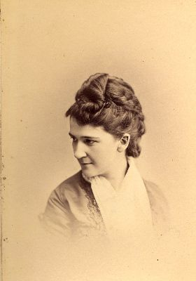 Nanny Wood, wife of CES Wood. Photograph circa 1879.