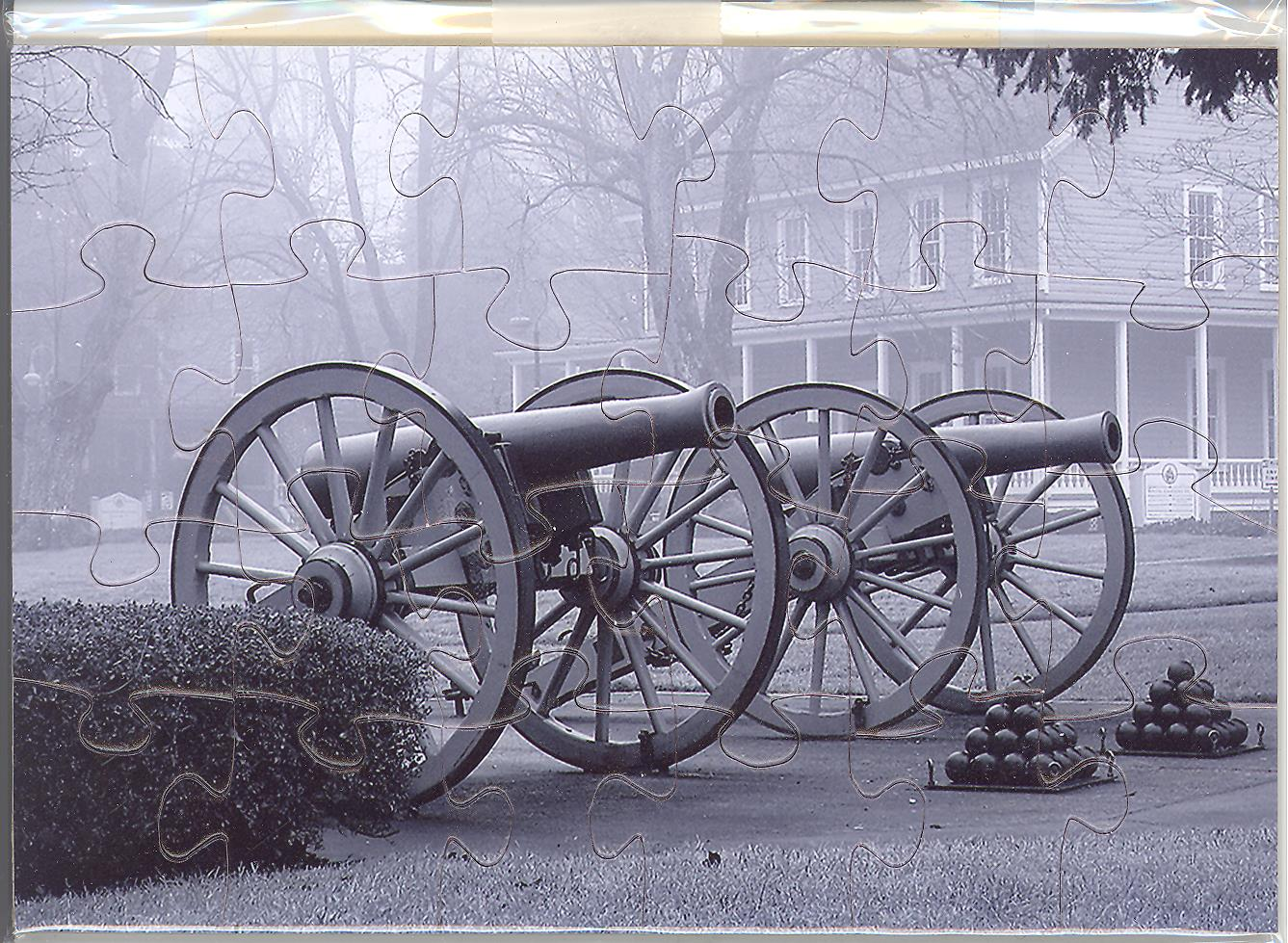 Puzzle Postcard Cannons on Officers' Row by Pam Gunn