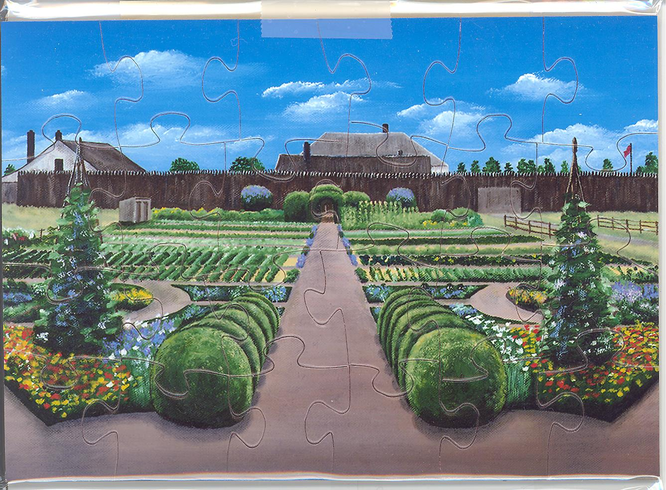 Puzzle Postcard Heritage Garden Fort Vancouver by James Pestillo