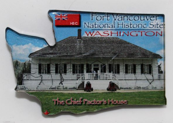 Chief Factor's House Magnet shaped like Washington State