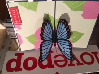Blue Morpho Butterfly lovepop Pop Up Card