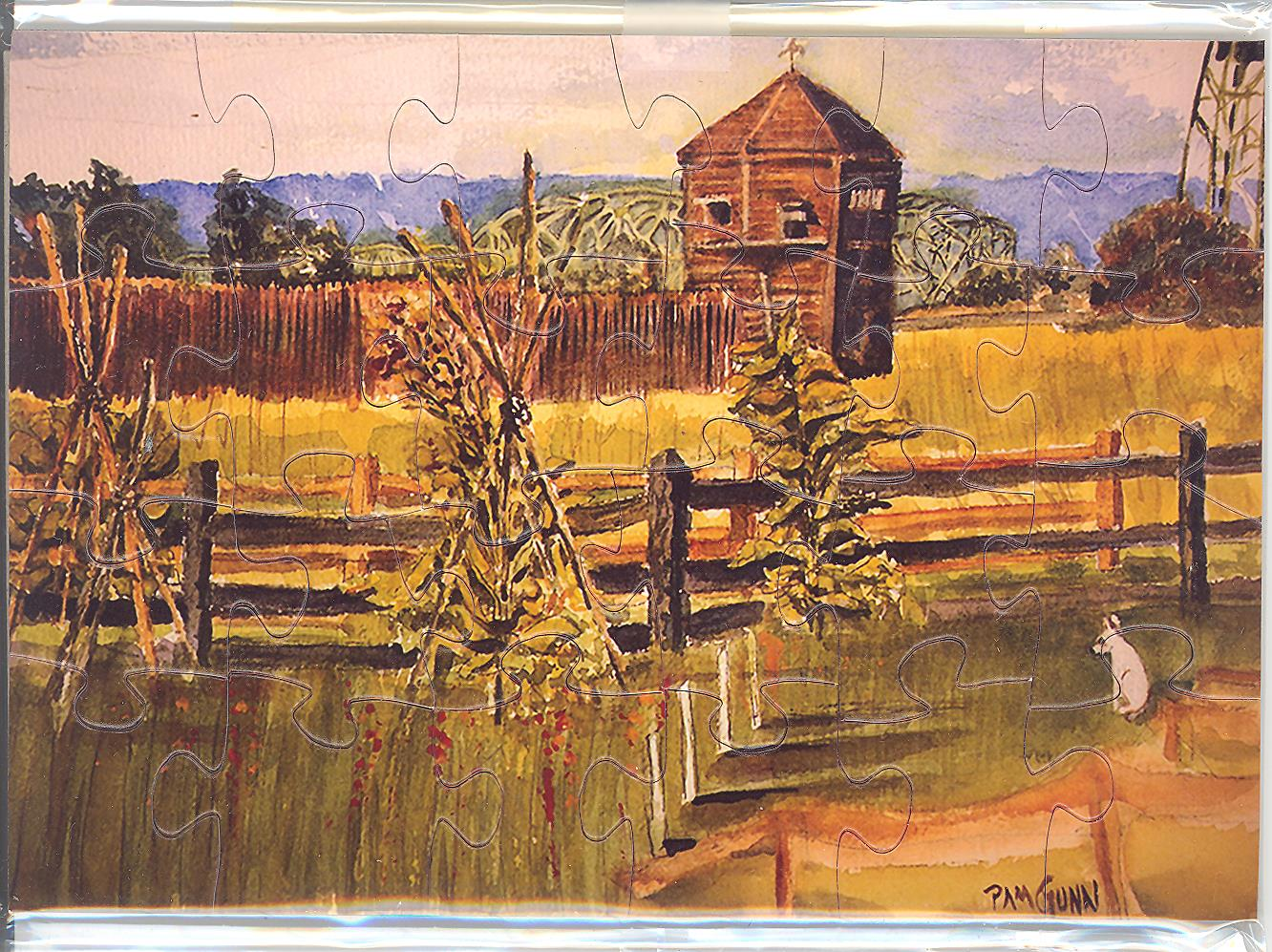 Puzzle Postcard Fort Vancouver Bastion by Pam Gunn
