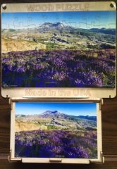 "Mount St. Helens Handmade Wood Puzzle & Box 11.25""x7.5"" by Sibbet"