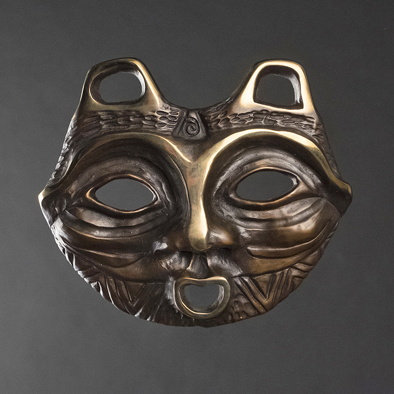 SHE WHO WATCHES Bronze Mask by Lillian Pitt