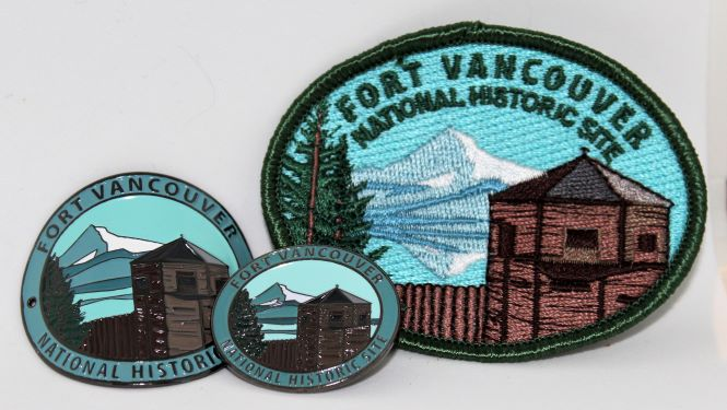 Set of Fort Vancouver PinBadge Patch