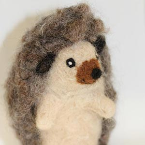 Juneko's Fiber Art Hedgehog
