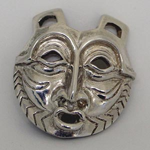 "Native American Artist Lillian Pitt's ""She Who Watches"" Sterling Silver Pin/Pendant"