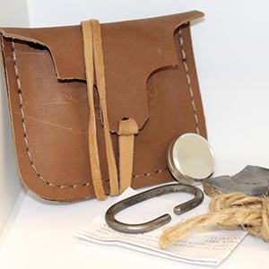 Handmade Cowhide Fire Starting Kit