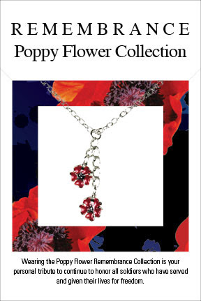 Remembrance Poppy Flower Bookmark and Bracelet by Boston Exclusives