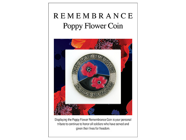 Remembrance Poppy Flower Coin