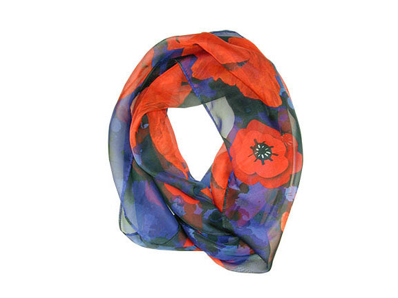 Remembrance: Poppy Flower Infinity Scarf by Boston Exclusives