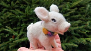 Petal the Piglet Workshop with Fiber Artist Juneko Martinson